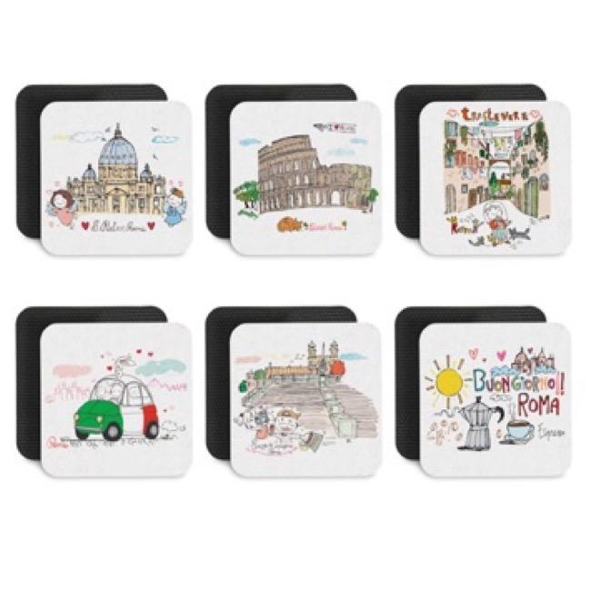 Kit di sottobicchieri Monumenti Roma