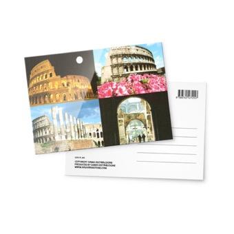 Cartolina fotografica , Monumenti Roma