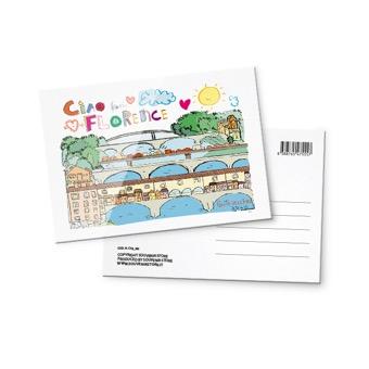 Cartolina Illustrata, Ponte Vecchio, Firenze