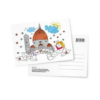 Cartolina illustrata Basilica Santa Maria del Fiore, Firenze