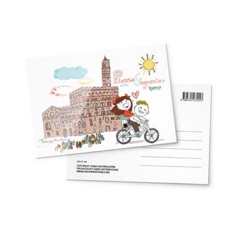 Cartolina illustrata Piazza della Signoria, Firenze