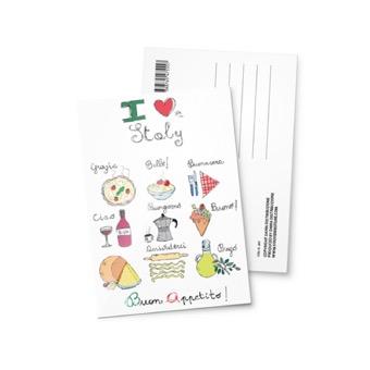 Cartolina illustrata Italia Cucina
