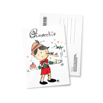 Cartolina illustrata Pinocchio