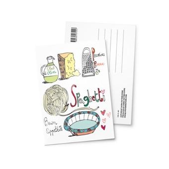 Cartolina illustrata Italia spaghetti