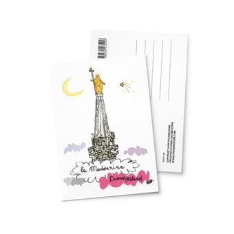 Cartolina illustrata la Madonnina, Duomo di Milano