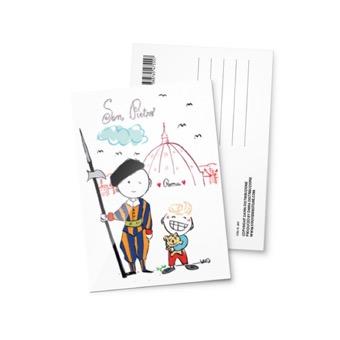 Cartolina illustrata Città del Vaticano