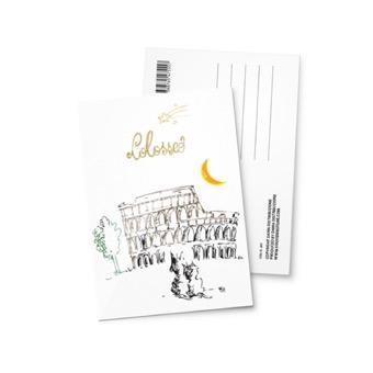 Cartolina illustrata Colosseo