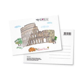 Cartolina illustrata Colosseo