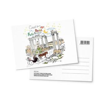 Cartolina illustrata Foro Romano