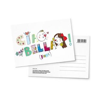 Cartolina illustrata Ciao bella