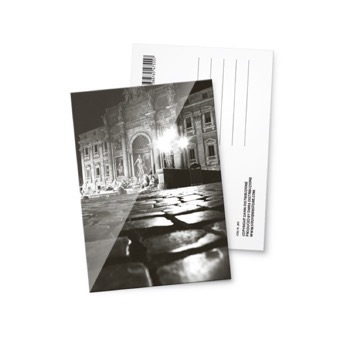 Cartolina fotografica Fontana di Trevi