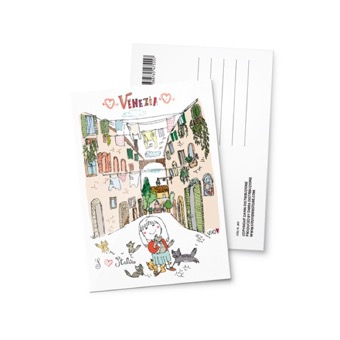 Cartolina illustrata I Love, Venezia