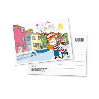 Cartolina illustrata Canale di Venezia