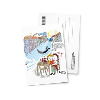 Cartolina illustrata That's Amore, Venezia