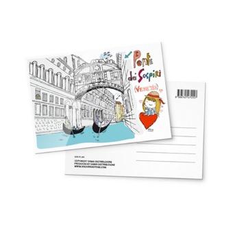 Cartolina illustrata Ponte dei Sospiri, Venezia