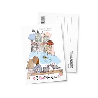 Cartolina illustrata Chiesa Santa Maria della  Salute, Venezia