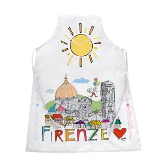 Grembiule bianco Panorama Firenze
