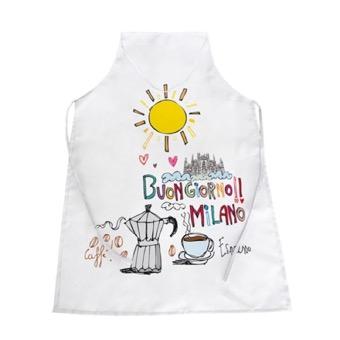 Grembiule bianco Buongiorno Milano