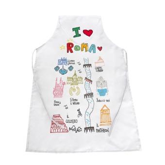 Grembiule cucina I Love Roma, Monumenti