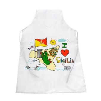 Grembiule I Love Sicilia, isola