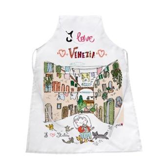 Grembiule bianco I Love, Venezia