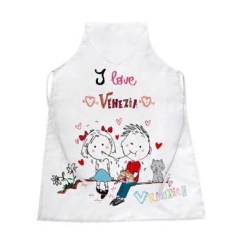 Grembiule bianco I Love Venezia