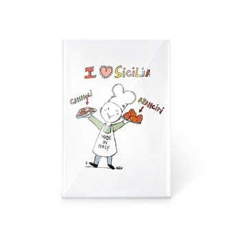 Magnete I Love Sicilia! Cannoli e Arancini