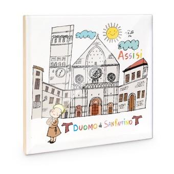 Mattonella Duomo di San Rufino, Assisi