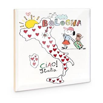 Mattonella cartina Italia: Ciao Bologna