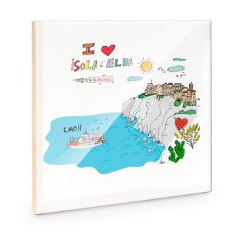 Mattonella I Love Isola d'Elba