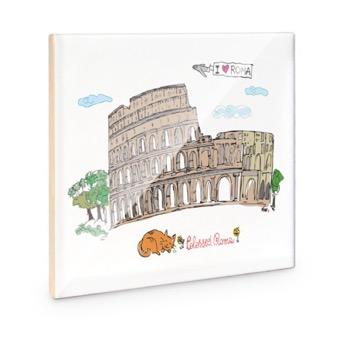 Mattonella Colosseo e Gladiatore