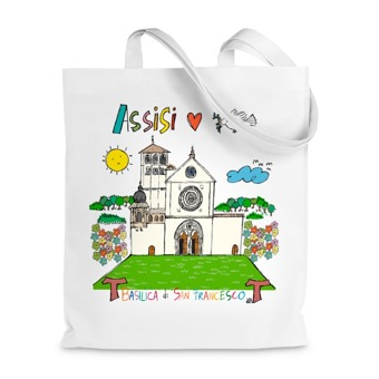 Borsa Shopper Basilica di San Francesco, Assisi