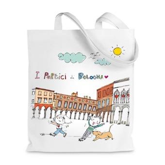 Borsa shopper i portici di Bologna