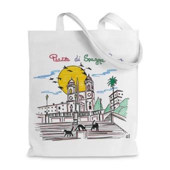 Borsa shopper Piazza di Spagna e Gatti