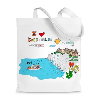 Borsa Shopper I Love Isola d'Elba