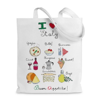 Borsa shopper Italia Cibo