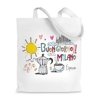 Borsa shopper Buongiorno Milano