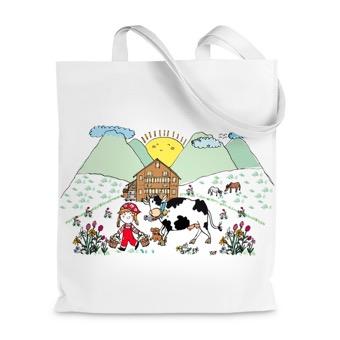 Borsa Shopper Paesaggio di montagna