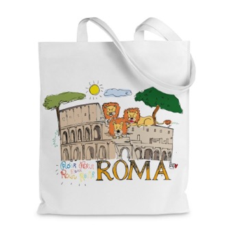 Borsa shopper Colosseo e Leoni