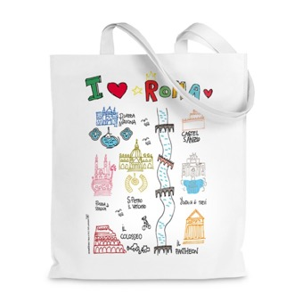 Borsa shopper  I Love Roma
