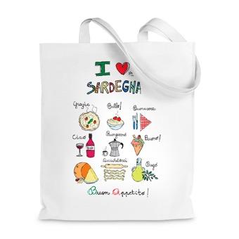 Borsa shopper Cucina, I love Sardegna