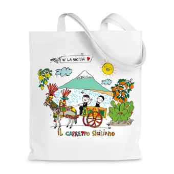 Borsa Shopper  carretto siciliano - Sicilia