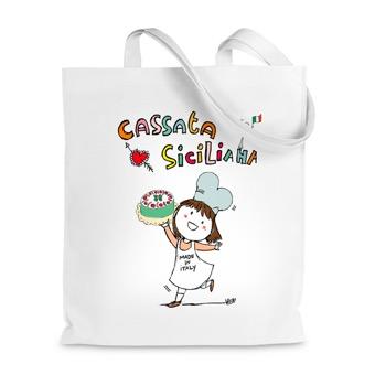 Borsa Shopper  cassata siciliana - Sicilia