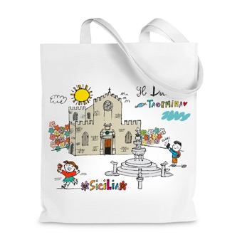 Borsa Shopper duomo di Taormina - Sicilia