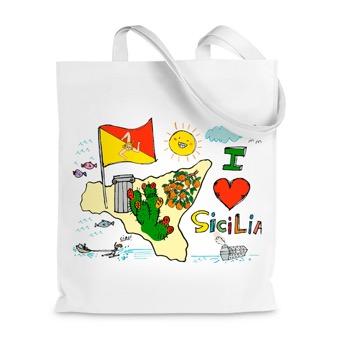 Borsa Shopper I Love Sicilia, isola