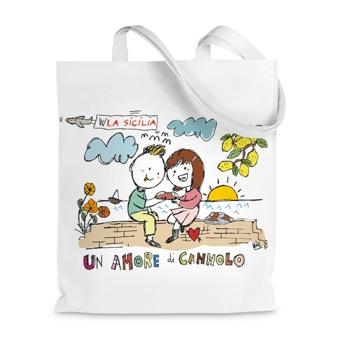 Borsa Shopper un amore di cannolo - Sicilia