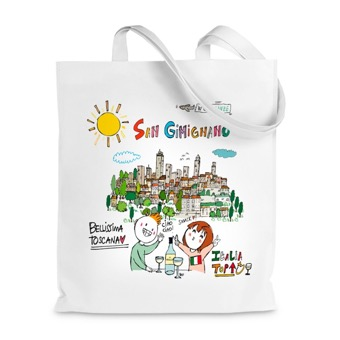 Borsa Shopper San Gimignano, bellissima la Toscana