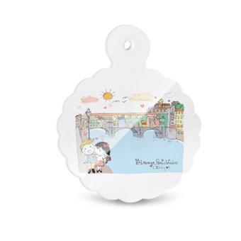 Tagliere - Sottopentola, Ponte Vecchio Firenze, Fiore