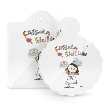 Tagliere - Sottopentola cassata siciliana - Sicilia