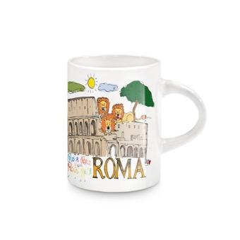 Tazzina Colosseo e Leoni